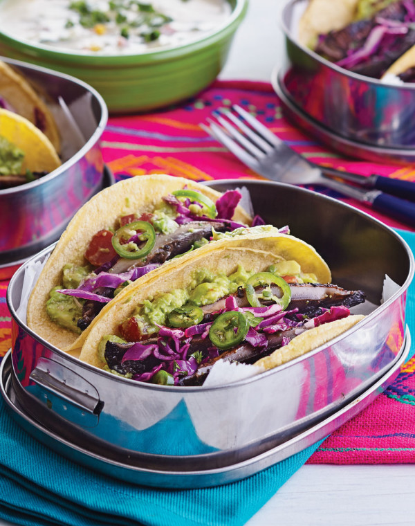 Portobello Tacos with Slaw & Guacamole
