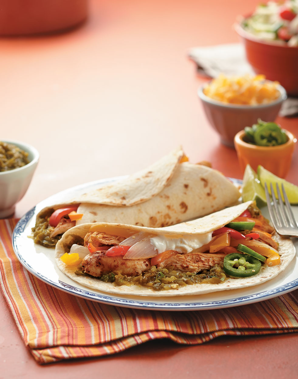 Chicken Fajitas with Green Chile Salsa