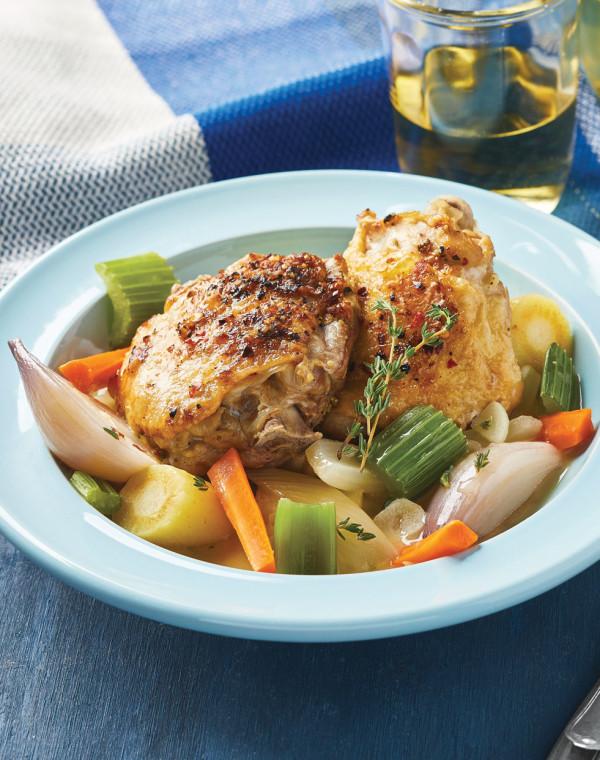 Instant Pot Braised Chicken & Veggies