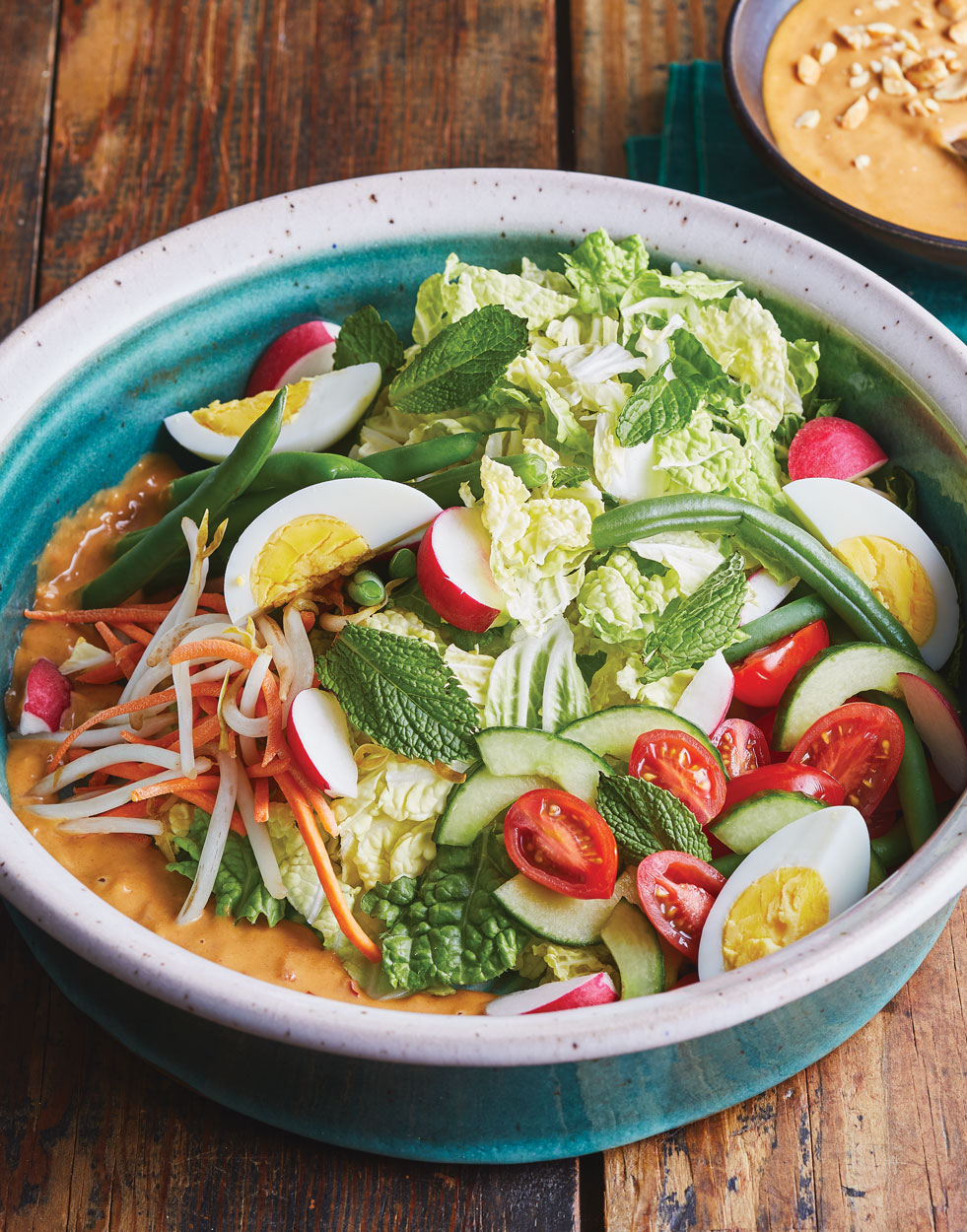 Indonesian Vegetable Salad (Gado Gado) with Peanut Dressing