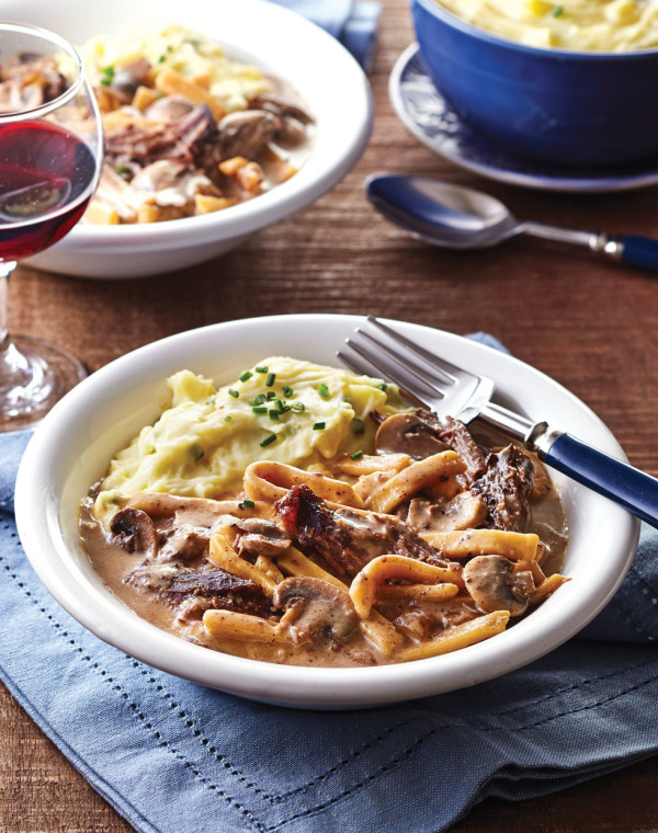 Beef & Noodles with Mushrooms