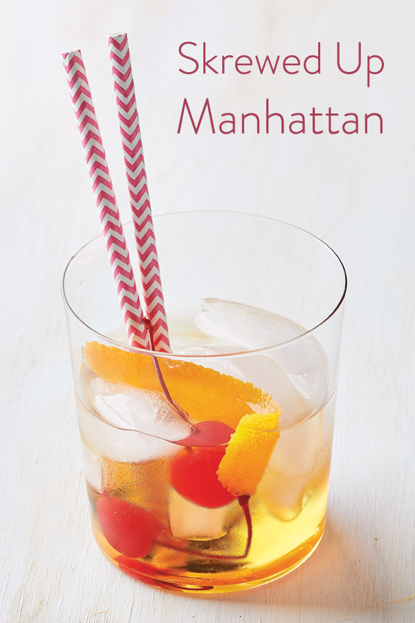 Skrewed Up Manhattan drink recipe with Skrewball Peanut Butter Whiskey