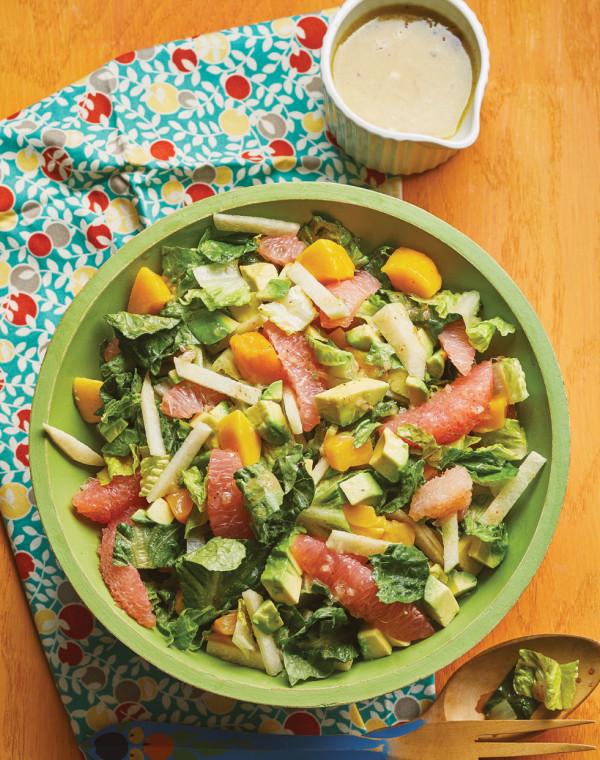 Grapefruit Salad with lime vinaigrette