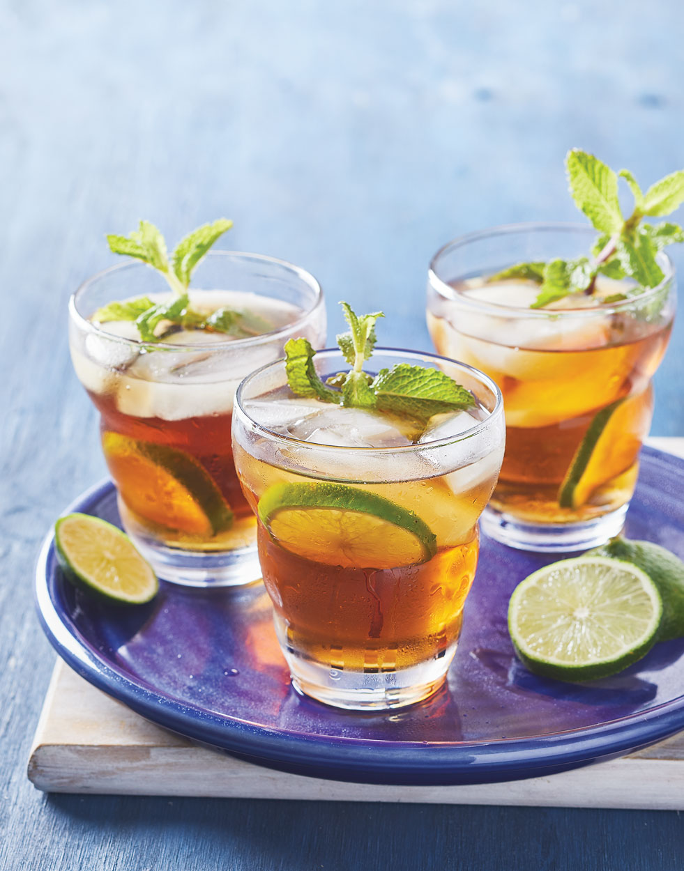 Southern Sweet Tea With Lime Mint Recipe
