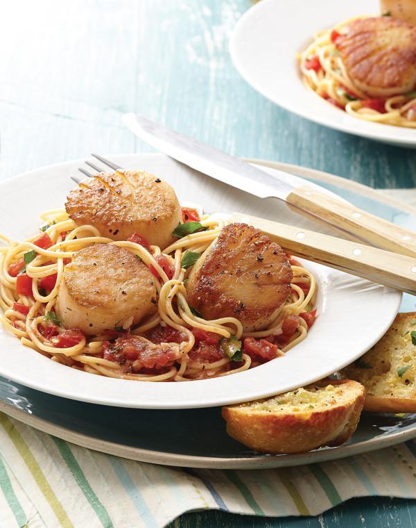 Scallop Pomodoro with Spaghetti