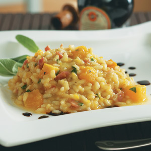 Butternut Squash Risotto with Pancetta & Sage