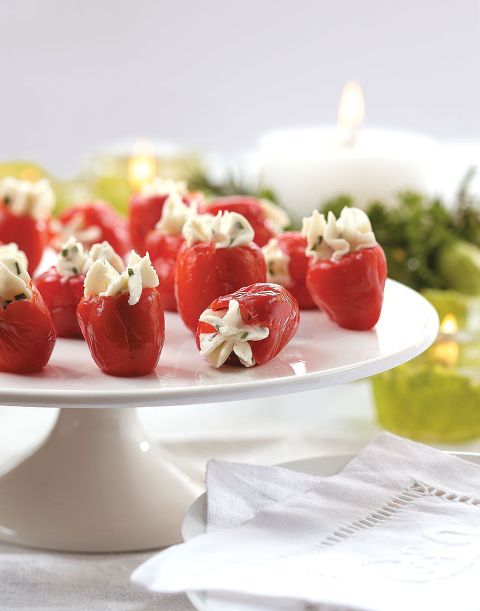 Goat Cheese-Stuffed Peppadews