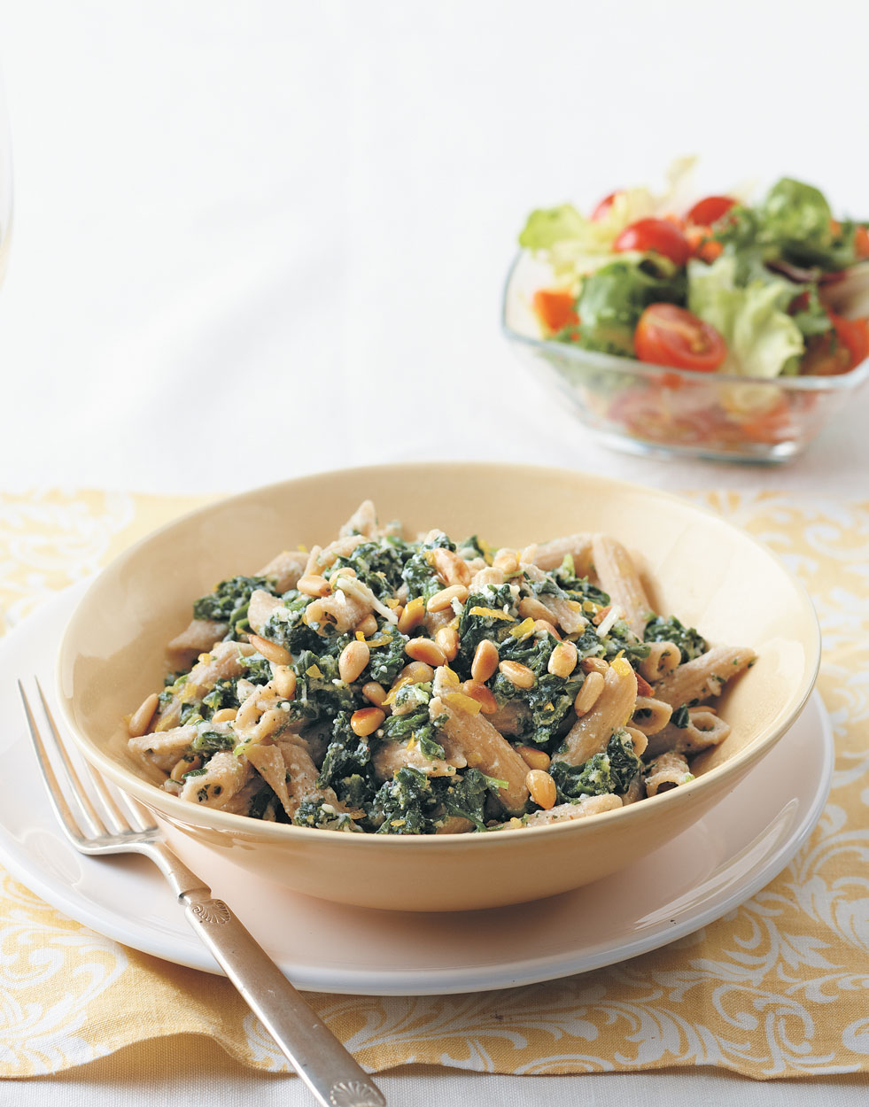 Creamy Spinach & Penne Pasta