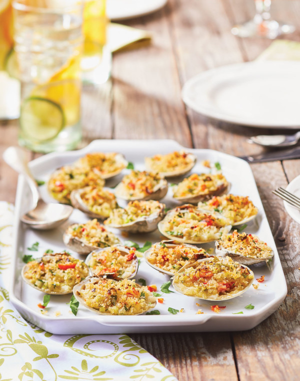 Spicy Stuffed Clams