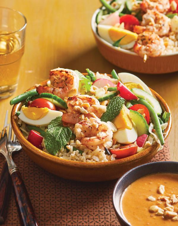 Gado Gado with Shrimp & Peanut Dressing