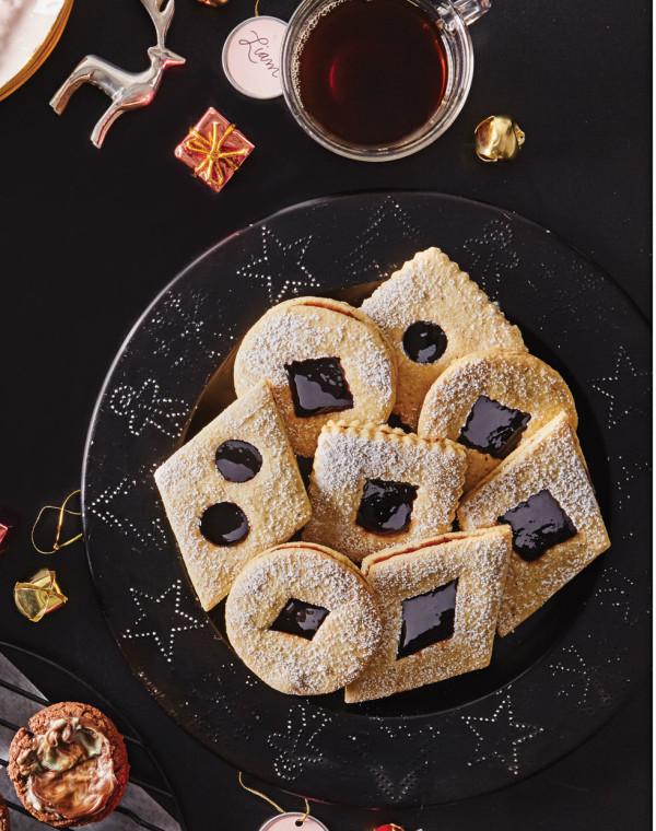 Hazelnut-Brown Butter Linzer Cookies