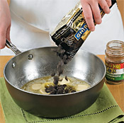 Add chocolate chips to sugar mixture and let sit 2 minutes to allow chocolate to melt.