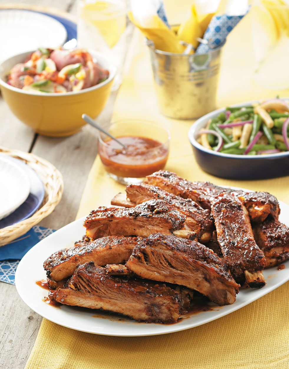 Smoky Grilled St. Louis-Style Ribs