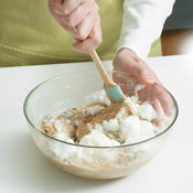 Gently fold the egg whites into the batter. Overfolding will cause the whites to lose their volumizing effect.
