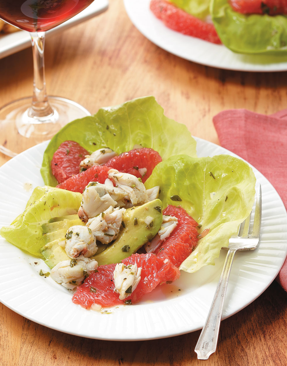 Crab, Avocado & Grapefruit Salad with Grapefruit-Tarragon Vinaigrette