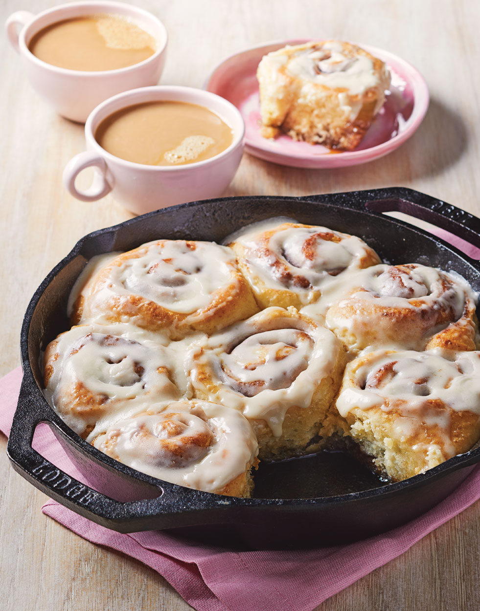 Frosted Cinnamon Rolls with Sticky Syrup