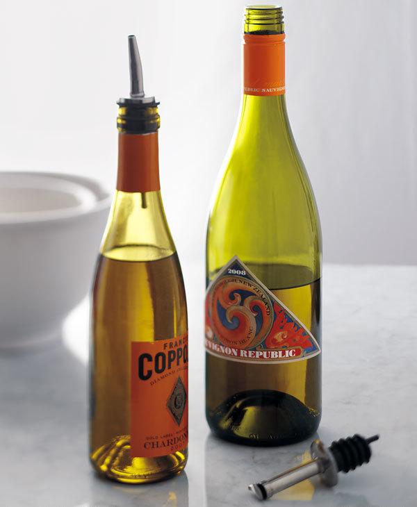 Reuse Wine Bottles for Storing Oil