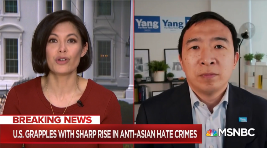 Andrew Yang on this moment: 'I do believe this is leading to a political awakening for Asian Americans' [MSNBC]