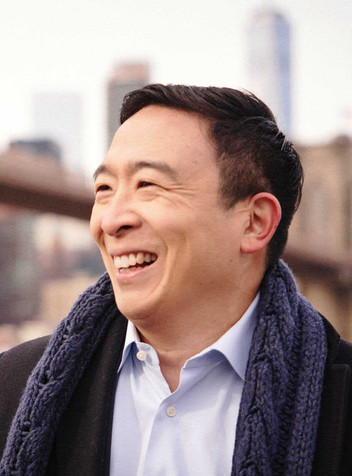 Andrew Yang in New York City during his campaign for Mayor