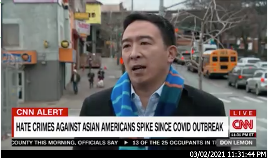 On March 2, Andrew discussed hate crimes with CNN.
