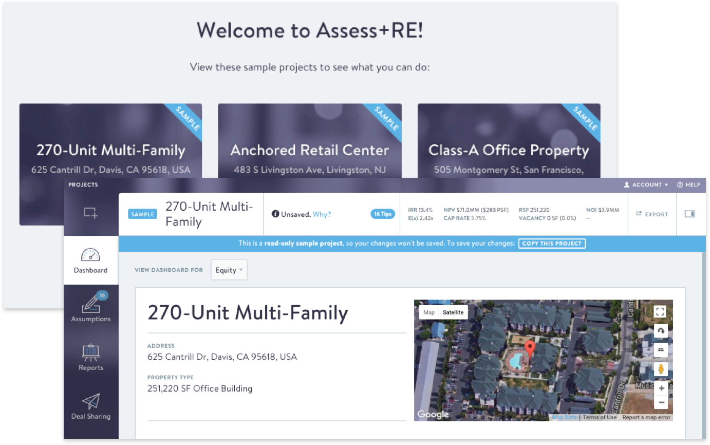 Assess+RE - Real Estate Financial Analysis for Everyone