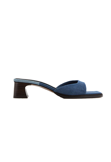 zara denim sandal