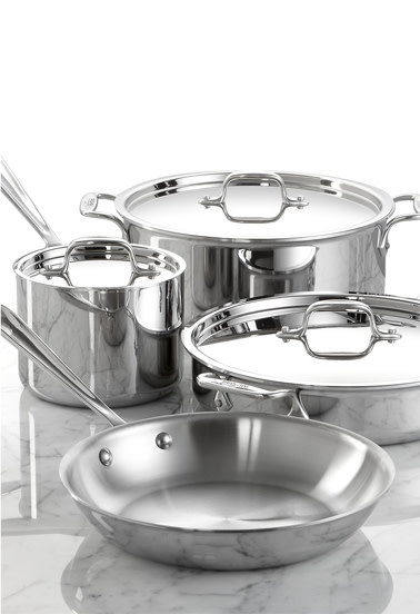 Stainless Steel 7-Pc. Cookware Set