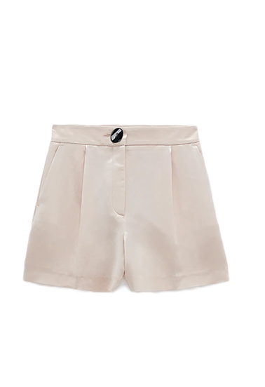 zara satin shorts