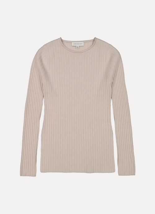 Vivienne Cashmere Ribbed Tunic Sweater