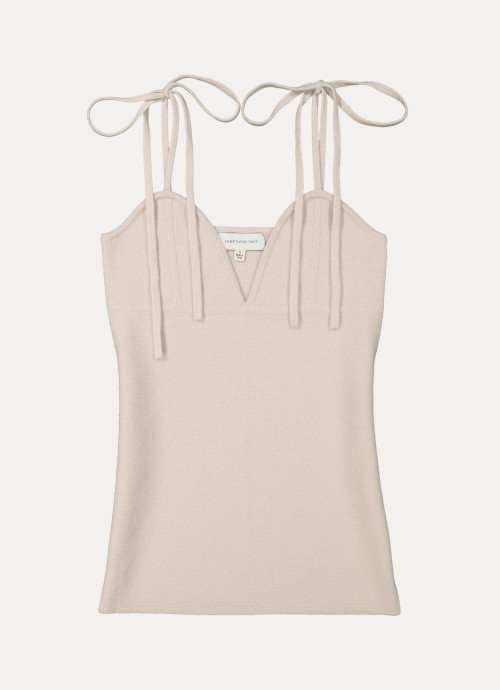 Zoey Cashmere Strappy Sweater Tank