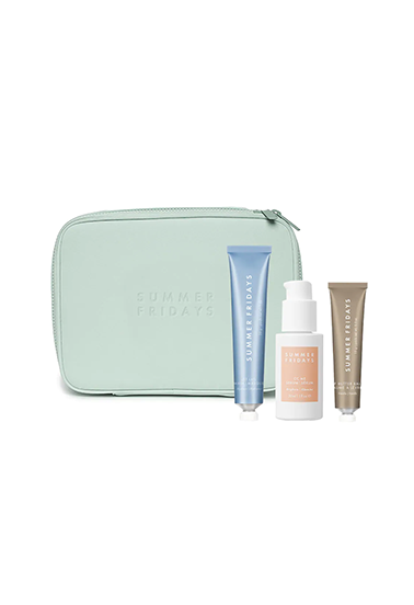 gift set of three face products