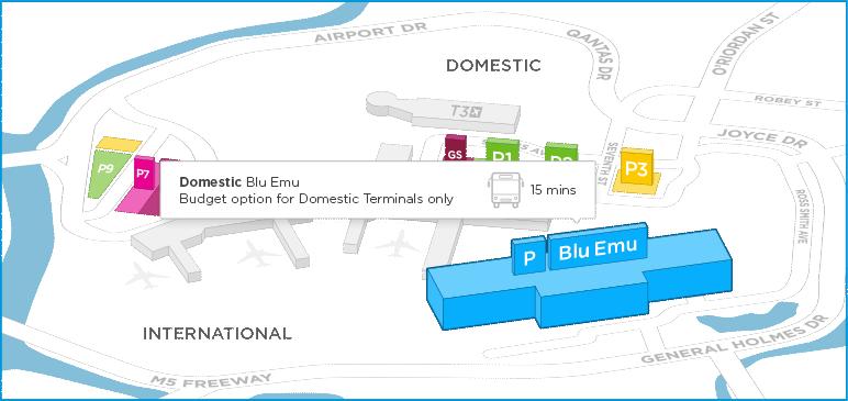 Blue Emu Car Park Shuttle Bus