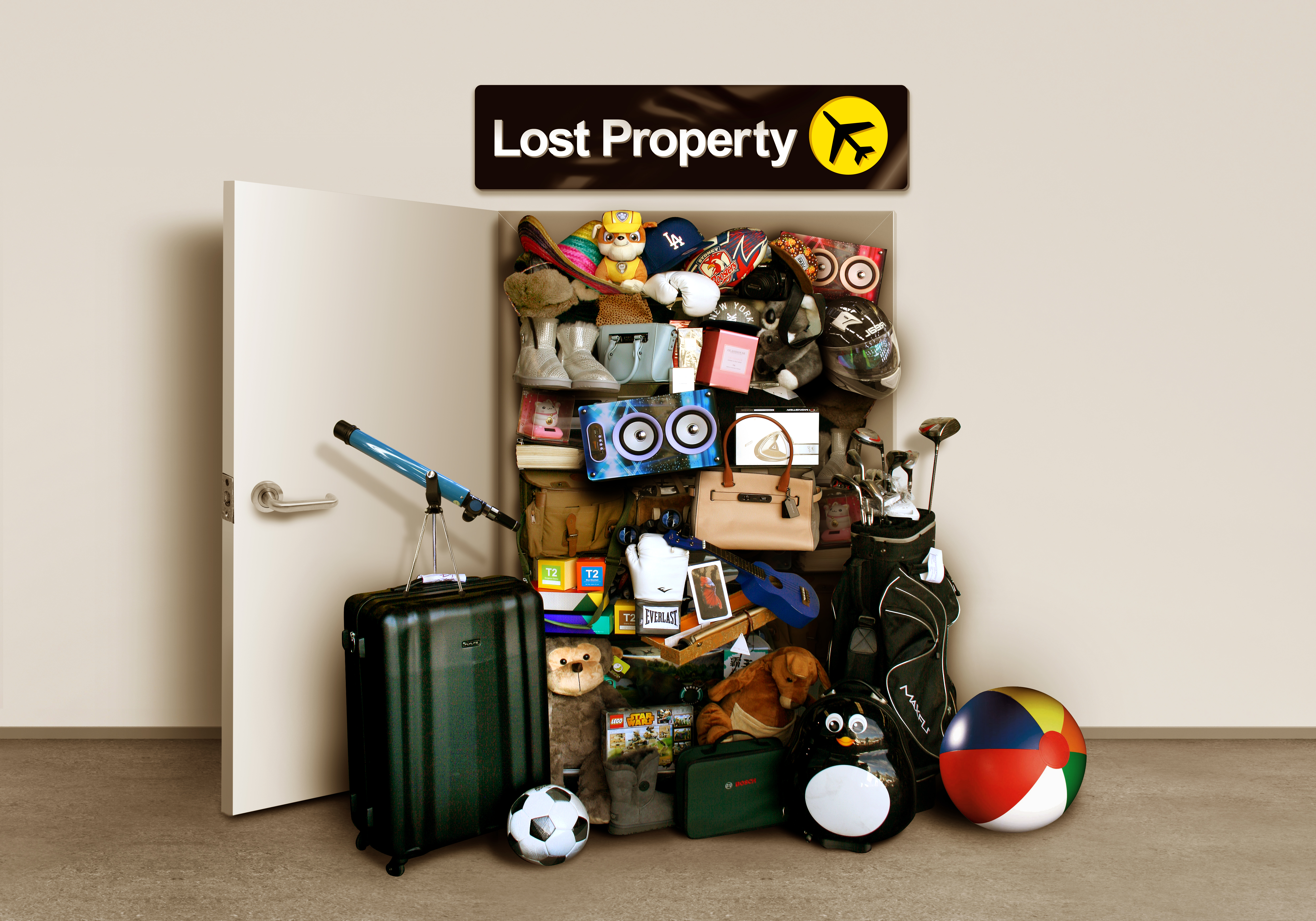 Lost property auction graphic