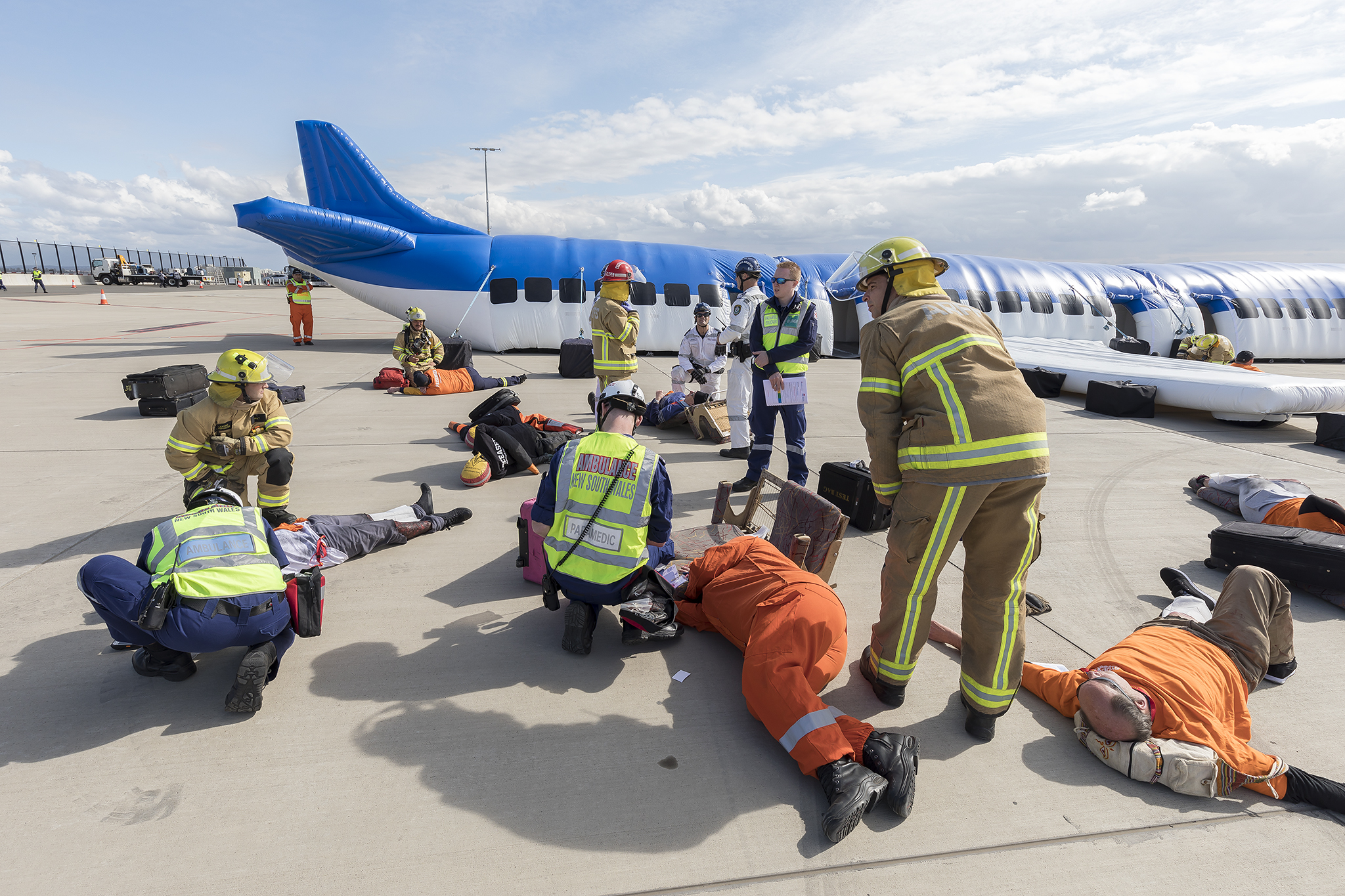 SYDNEY AIRPORT FULL FIELD EMERGENCY EXERCISE 230818 KURT AMS 5313