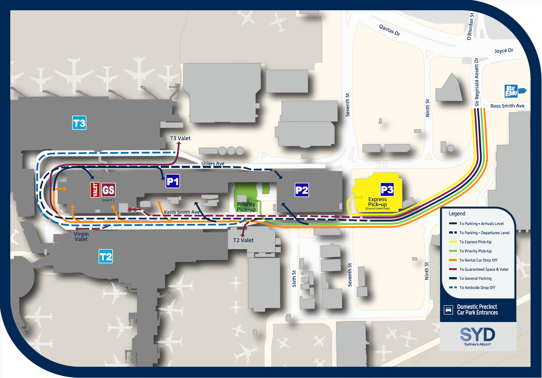 terminal 2 sydney domestic airport map Picking Up Passengers From Domestic Arrivals At Sydney Airport terminal 2 sydney domestic airport map