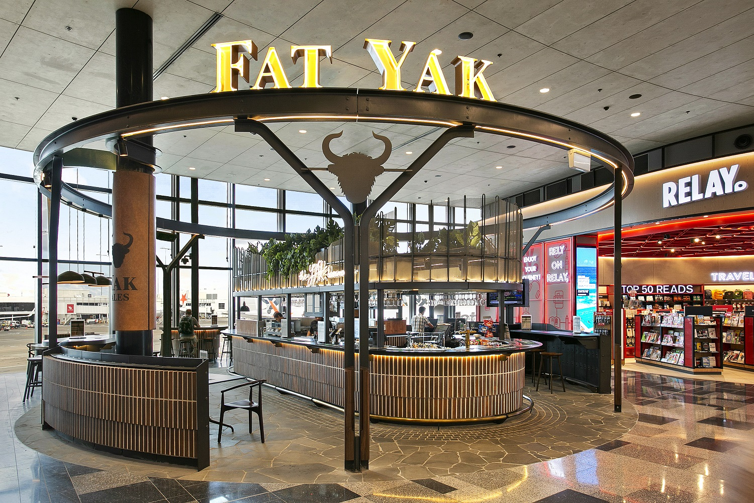 New Fat Yak bar concept at Sydney AIrport's T2