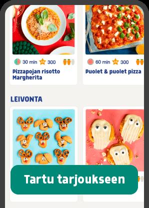 ## Nyt 14 päivän ilmainen kokeilu!  Lasten pelimäinen ja pedagoginen kokkaussovellus Carrot Kitchen sisältää videoreseptejä, taitovideoita ja kokkaushaasteita. Netistä tilatessasi saat 14 päivän pituisen ilmaisen kokeilujakson.  __Tartu tarjoukseen ja anna lapsestasi kuoriutua perheen mestarikokki.__