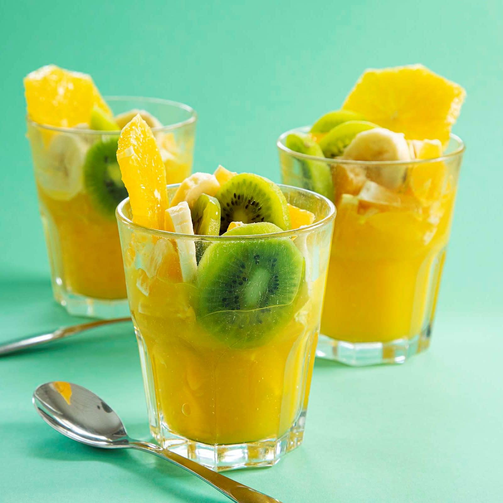 Kiisseliklöntit ja hedelmäpommi