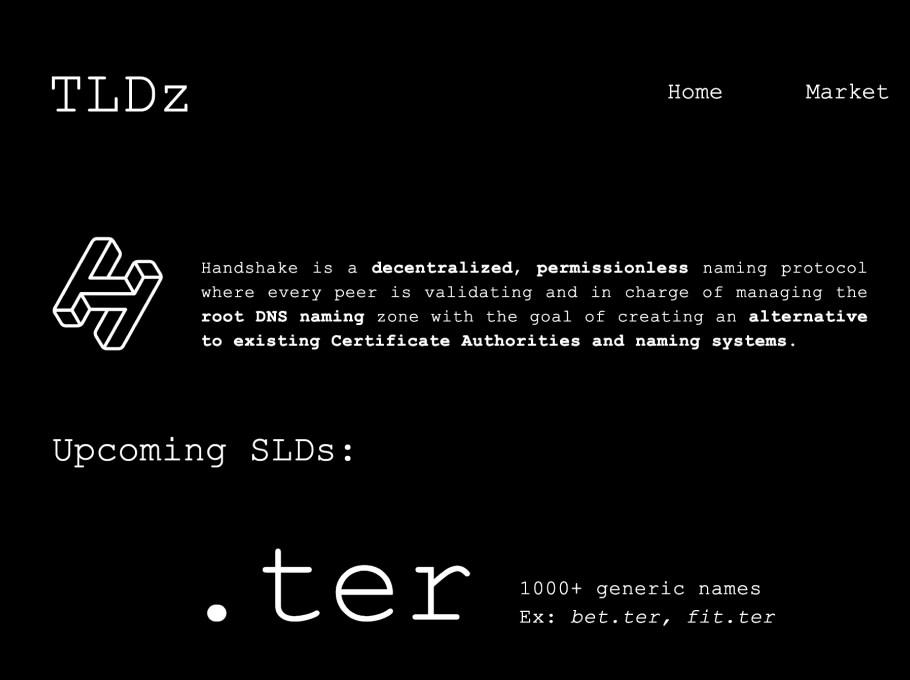 tldz/, built with Handshake.