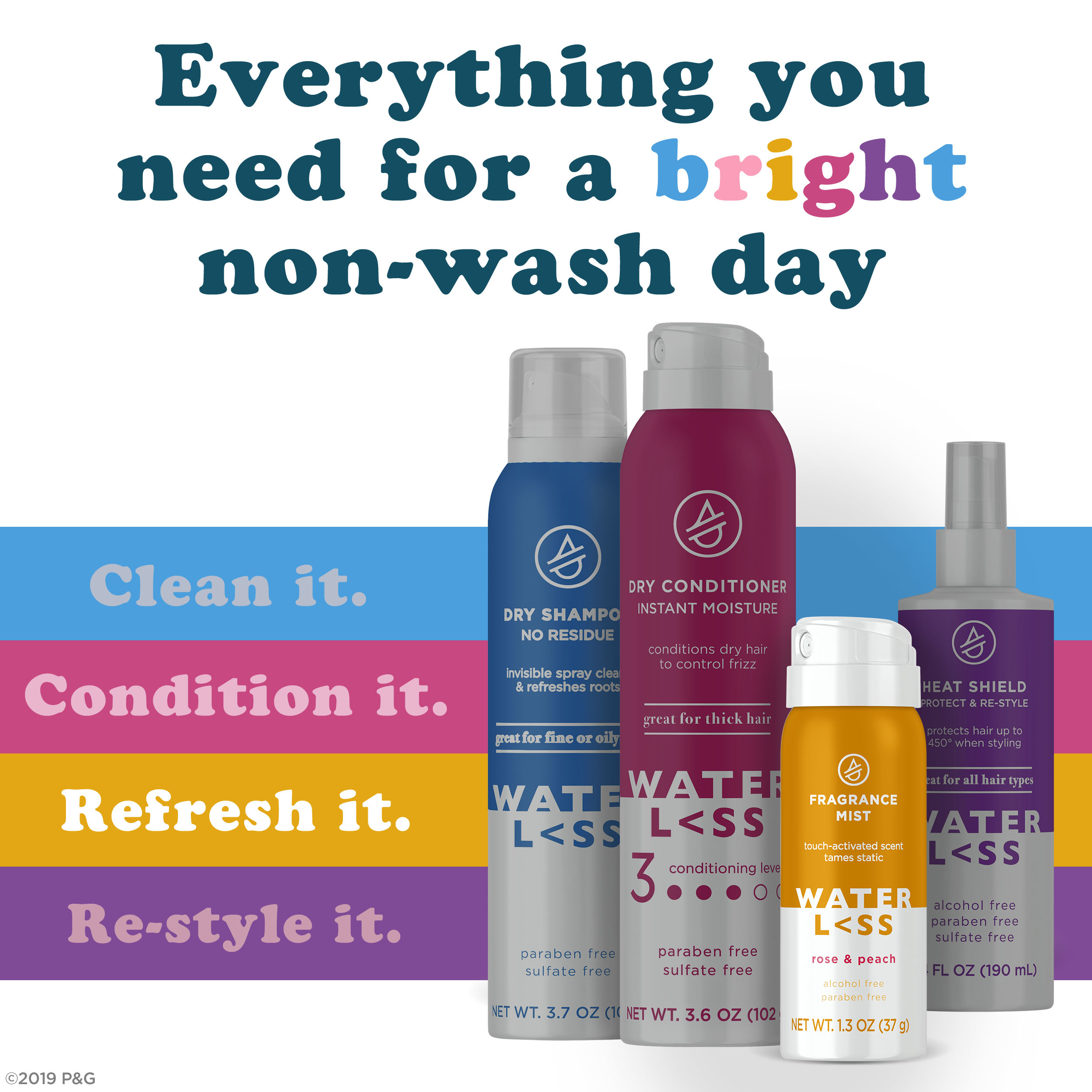 Everything you need for a bright non-wash day - Refresh it.