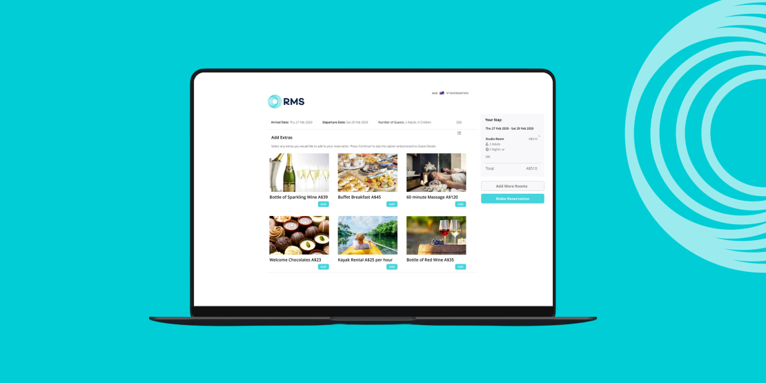 RMS Unveils New and Improved Internet Booking Engine