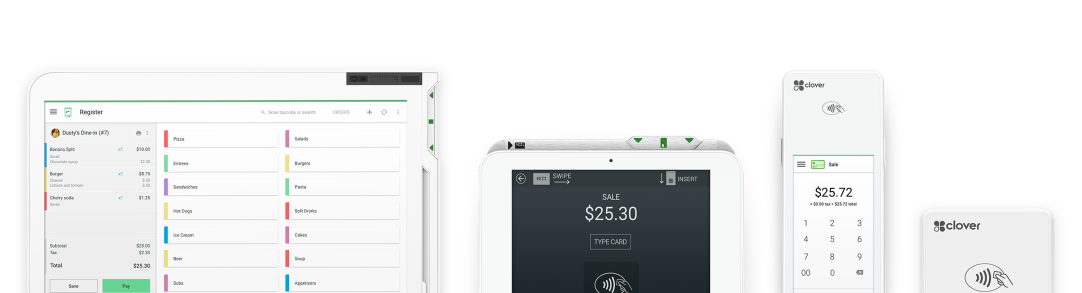 POS System & Credit Card Readers by Clover