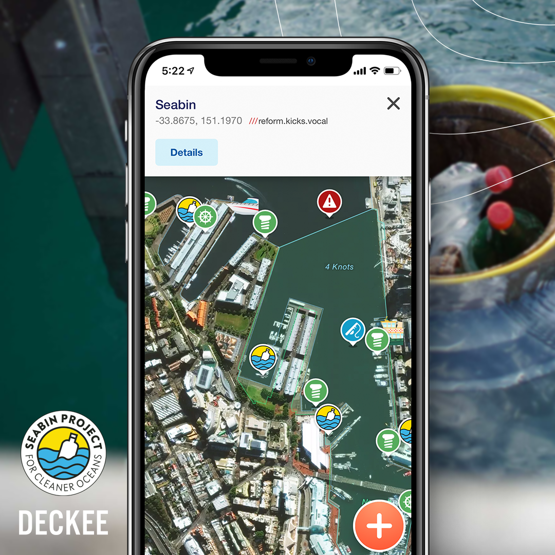 Deckee partners with Seabin to educate boaters on cleaning up the oceans