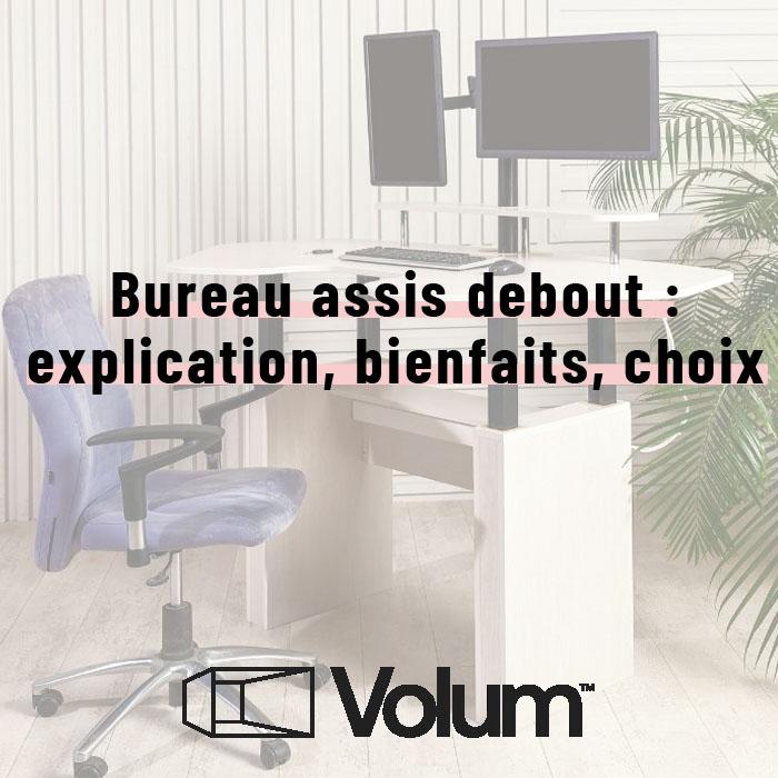 Bureau assis debout : explications, bienfaits, choix