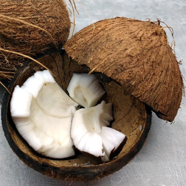 Coconut milk hair fall treatment