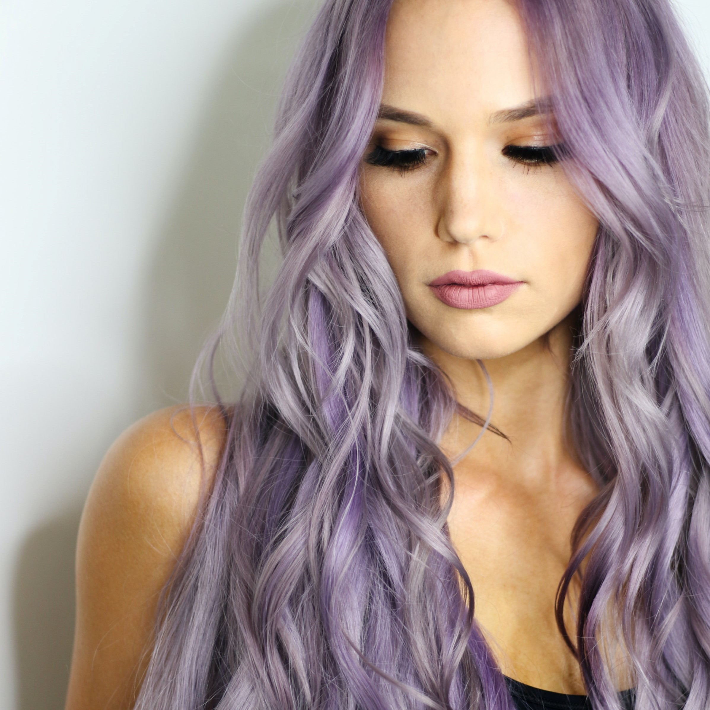 smokey violet hair color treatment