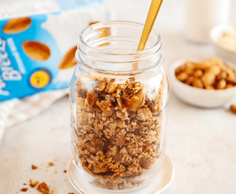 Crumbly Almond Meal Granola