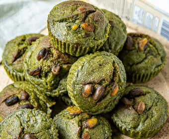 Spinach and Banana Muffins