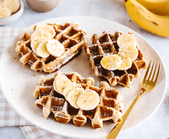 Banana Wholemeal Waffles