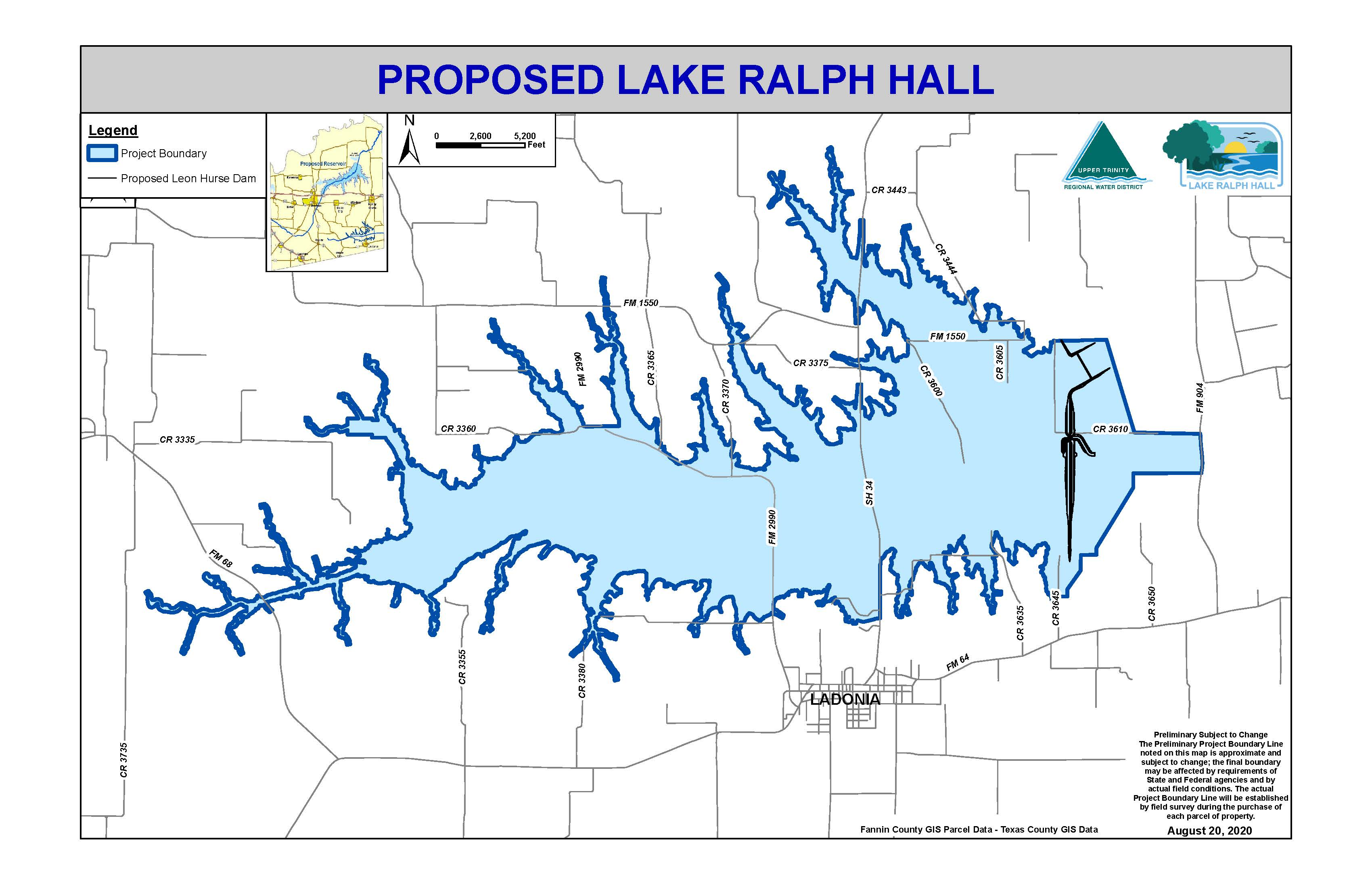 Map of Lake Ralph Hall